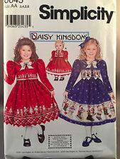 Simplicity 0645 Daisy Kingdom Size 3-6 Girls and 18 in Dolls Dress Pattern New