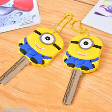 One eyed Minions Key Cover Key Case Chain Cap Keyring theme in Despicable Me hot