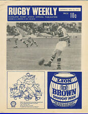 Auckland rugby hebdomadaire 13 mai 1972 nz mag/prog college fusils grammaire banlieues