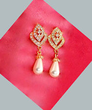 53b Bridal Classic GP Clear Crystal & Ivory Pearl Dew Drop Earrings
