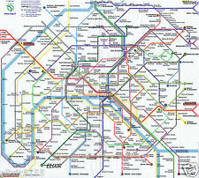 2 SERVIETTES EN PAPIER METRO DE PARIS FRANCE PLAN RATP NAPKINS PARIS SUBWAY
