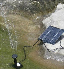 Solar Powered Fountain Submersible Water Pump Kit W/ Panel Garden Pond Pool New