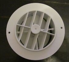 "4"" WHITE Round Rotaire Grille Damper Heat AC Outlet Register Vent 3840RWH RV"