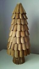 HANDMADE WOODEN CHRISTMAS TREE TABLE TOP CHRISTMAS WOOD DECORATION