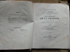 THESE MEDECINE.LOIS GENERALES DE LA CHALEUR .1843.Alph.GUERARD Docteur en médeci