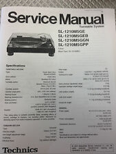 Technics SL1200/1210 M5G Turntable Service Manual, Technics Service Manual