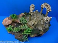 GREEK / ROMAN TEMPLE RUINS ROCK MOUNTAIN AR013 HUGE AQUARIUM DECORATION RESIN