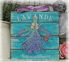 """New! """"LAVANDE"""" Vintage Shabby Country Cottage Chic style - Wall Decor Sign"""