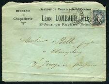 France - Enveloppe commerciale de St Jean en Royans en 1899  réf F173
