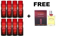 8 X ADDICTION CLASSIC MENS BODY SPRAY 150ML + FREE ADDICTION CLASSIC AFTERSHAVE