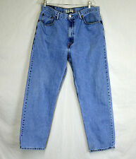 Levi's 550 Relaxed Fit size 38x31 denim Blue Jeans faded and worn