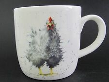 "Royal Worcester Chicken Mug ""Curious Hen""  Fine Bone China Wrendale Designs Box"