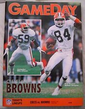 NFL Gameday Magazine Program Indianapolis Colts vs Cleveland Browns 12/1/1991