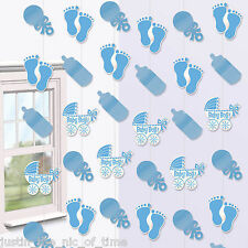 Baby Shower Boys Party Hanging String Decorations Christening Naming BOY