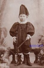 CDV Photo - CUTE LITTLE BOY joker carnival costume - GERMANY