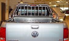 ARCEAU DE BENNE + GRILLE, ROLL BAR, VW AMAROK 11- INOX DIAM 76MM, GARANTI 6ANS