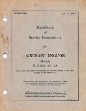 R-3350-8, -14, -24 Aircraft Engine Service Instructions Flight Manual (CD)