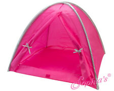 """Hot Pink and Silver Nylon Camping Tent for American Girl, KNC or Other 18"""" Dolls"""