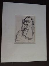 "Carole Sue Lebbin Etching ""DECLINING ARTIST"" Signed/Numbered 3/10"