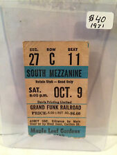 Grand Funk Railroad 10-9-1971 Toronto MLG concert ticket stub