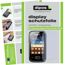 2x Samsung Galaxy Pocket Duos S5302 matt Displayschutz Antireflex Folie