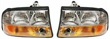 98-05 Gmc S15 Jimmy Sonoma Headlights Headlamps Pair Set Left & Right W/Fog