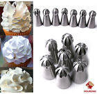 Sphere Ball Stainless Steel Russian Icing Piping Nozzles Pastry Tips Cake Decora