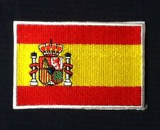 SPAIN SPANISH BANDERA DE ESPANA COUNTRY FLAG BADGE IRON SEW ON PATCH EUROPE
