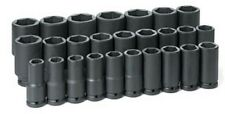 26-Piece 3/4 in. Drive 6-Point Metric Deep Impact Socket Set GRY-8026MD New!