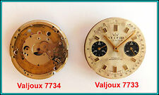 VALJOUX 7733 & 7734 - 2 (Two) Chronograph Movements - FOR PARTS - MISSING PARTS