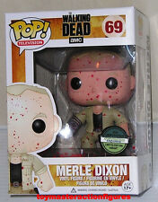 FUNKO POP TELEVISION The WALKING DEAD MERLE DIXON 69 BLOODY EXC Figure IN STOCK