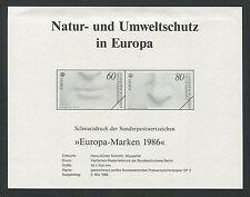 BUND 1278/79 EUROPA CEPT 1986 SCHWARZDRUCK BLACK PRINT d140/1