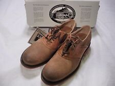NEW FRYE WALLACE SADDLE OXFORD TAN LEATHER DRESS CASUAL SHOES 8M