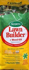 SCOTTS LAWN BUILDER SLOW RELEASE LAWN FERTILISER + WEED KILL 2.5KG