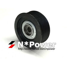 7PK RIBBED IDLER PULLEY PULLEY FOR MITSUBISHI PAJERO NM 6G74 SOHC 24V 3.5L 00-02