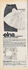 PUBLICITE ADVERTISING 094 1965 ELNA  supermatic machine à coudre