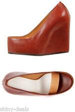MAISON MARTIN MARGIELA 22 New Woman Brown Wedge Open Pumps Sandal Shoes sZ 38.5