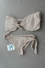 New Ladies Nude Beige Strapless  Bikini  Swimsuit Bathing Suit Size Large