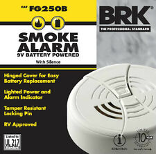 6 x First Alert Smoke Detector And Alarm 9V Battery Operated FG250B