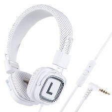 Foldable Overhead Funky DJ Headphones for Girls Boys Childrens Kids Teens White
