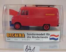 Brekina 1/87 Opel Blitz Kastenwagen Brandweer Sondermodell Niederlande OVP #841