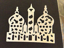 "Cardmaking  Die Cuts ""Temples"" White Card Qty 10 - 6.4cms x 5.3cms"