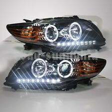 2008-2010 Year For TOYOTA Corolla Altis LED Angel Eyes LED Head Lights PW