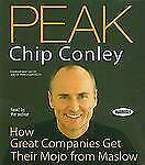 Peak: How Great Companies Get Their Mojo from Maslow by Chip Conley (2009, CD)