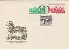 DDR FDC Ersttagsbrief 1958 Landwirtschaftsausstellung Markkleeberg  Mi.Nr.628-30