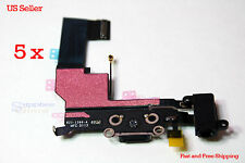 Original iPhone 5S Charger Charging Dock Port Connector Flex Cable  Lot 5 HQ