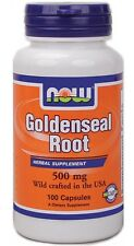 Goldenseal Root 500 mg 100 Caps, Now Foods, Anti-inflammatory, Immune Support