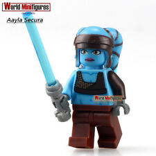 STAR WARS Aayla Secura with LightSaber DIY Blocks Minifigures Toys Gifts WQ