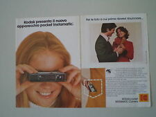 advertising Pubblicità 1972 KODAK POCKET INSTAMATIC