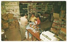 Trader Fred at the Santo Domingo Indian Trading Post, New Mexico, 1950s Postcard